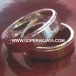 cincin kawin perak lapis emas putih rhod.41